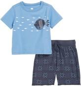Tea Collection School of Fish T-Shirt & Shorts Set (Baby & Toddler Boys)