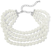 Kenneth Jay Lane Silver-plated Faux Pearl Choker - one size