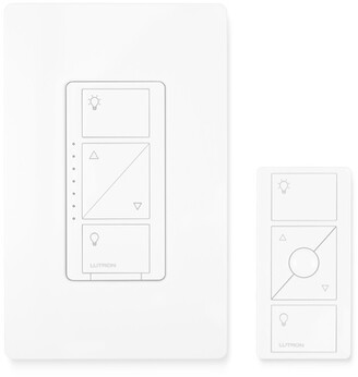Lutron Casta Wireless In-Wall Light Dimmer with Remote - white