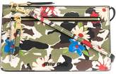 Miu Miu camouflage and floral print cross body bag