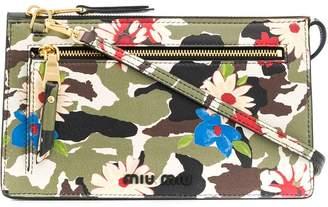 Miu Miu camouflage and floral print cross body bag