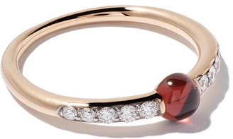 Pomellato 18kt rose gold M'ama non M'ama garnet & diamond ring