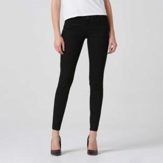 DSTLD Mid Rise Skinny Jeans in Black