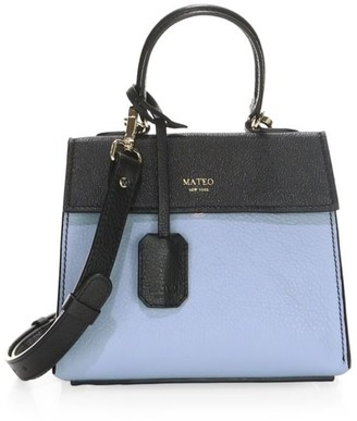 Mateo New York Mini The Elizabeth II Leather Satchel