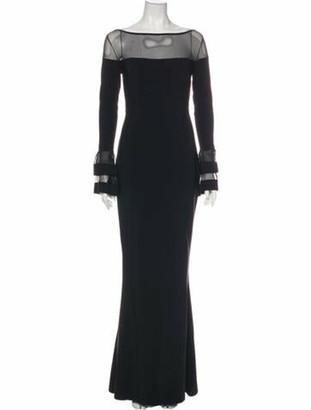 Chiara Boni Bateau Neckline Long Dress w/ Tags Black