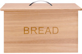 Living HOME Oslo Traditional Wooden Bread Bin with Chrome Handles