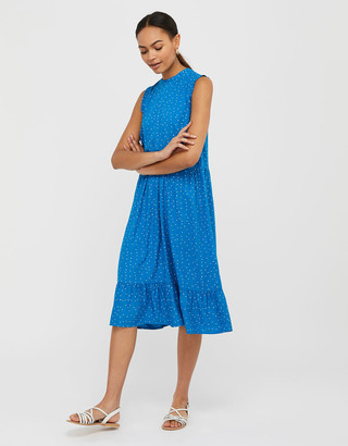 Under Armour Spot Tiered Midi Dress in LENZING ECOVERO Blue
