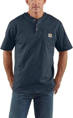 Carhartt Mens Workwear Pocket Short Sleeve Henley Midweight Jersey Original Fit