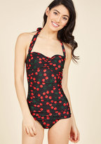 Esther Williams Fruity Suity One-Piece Swimsuit in Black in 4