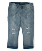 Vigoss Enzyme Distressed Capri Jeans - Girls