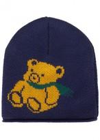 Gucci Blue Bear-intarsia Wool Beanie