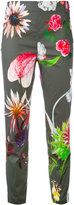 Blumarine floral print cropped trousers - women - Cotton/Spandex/Elastane - 38