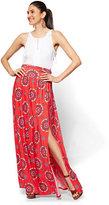 New York & Co. Slit-Front Maxi Skirt - Print