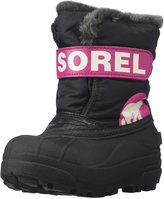 Sorel Childrens Snow Commander (Tod/Yth) - Black/Haute Pink - 12 Toddler