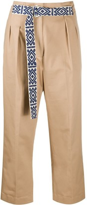 Mira Mikati Belted Cropped Trousers