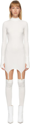 Dion Lee White Garter Mini Dress