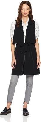 Kensie Women's Sandwashed Micro Fabric Vest