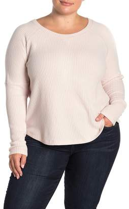 Sweet Romeo Cozy Thermal Pullover Top (Plus Size)