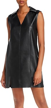 Alexander Wang Washable Faux Leather Mini Dress