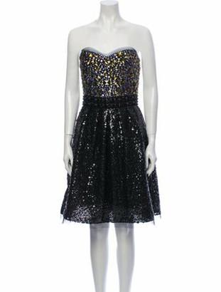 Naeem Khan Silk Mini Dress Black