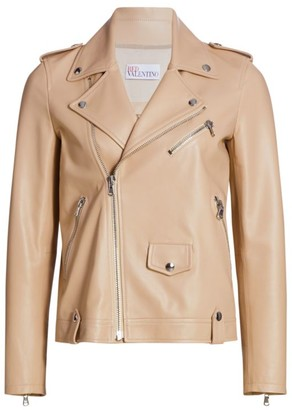 RED Valentino Soft Leather Moto Jacket