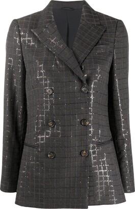 Brunello Cucinelli Sequin-Embellished Blazer