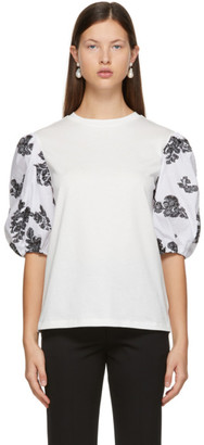 Erdem Off-White Fil Coupe Theodora T-Shirt