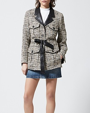 The Kooples Capraia Tweed Blazer Jacket