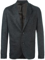 Lanvin contrast panel button blazer - men - Polyamide/Viscose/Wool - 46