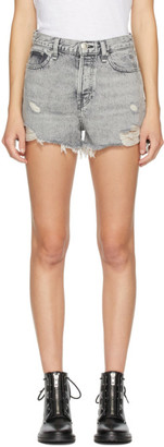 Rag & Bone Grey Denim Maya High-Rise Shorts