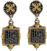Konstantino Asteri Pave Square Diamond Square Double-Drop Earrings