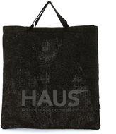 Golden Goose Deluxe Brand Haus Black Glitter Shopping Handbag