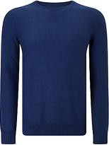 Gant Twill Textured Cotton Jumper, Blue