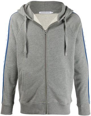 Calvin Klein Jeans logo tape zip-up hoodie