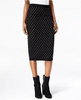 MICHAEL Michael Kors Studded Pointelle-Knit Pencil Skirt