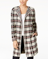 NY Collection Petite Open-Front Plaid Cardigan