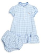 Ralph Lauren Girls Check Printed Dress and Bloomers Set