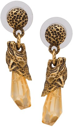 Prada Talisman panther earrings