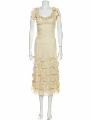 DÔEN Scoop Neck Long Dress Yellow Scoop Neck Long Dress
