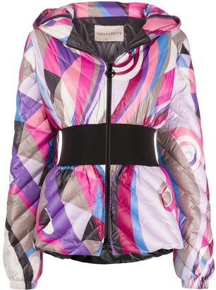 Emilio Pucci Abstract-Print Padded Jacket