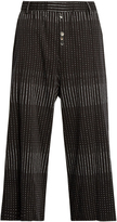Damir Doma Payce spot-print cotton cropped trousers
