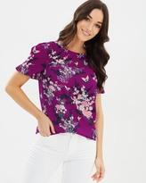 Oasis Kimono Pleat T-Shirt