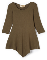 Hybrid Olive Handkerchief Tunic - Toddler & Girls