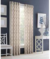 J Queen New York J. Queen New YorkTM Adorn 84-Inch Grommet Top Embroidered Window Curtain Panel in Grey