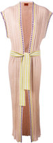 Missoni sleeveless tie waist cardigan - women - Polyester/Rayon/viscose - 48