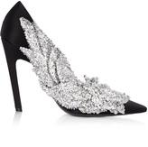Balenciaga Sequin-embellished satin pumps