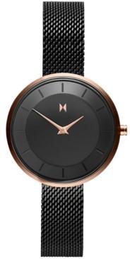 MVMT Women's Mod RB3 Black Stainless Steel Mesh Bracelet Watch 32mm