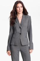 Lafayette 148 New York 'Willa' Crosshatch Suiting Jacket