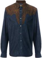 Paul Smith animal print bib shirt