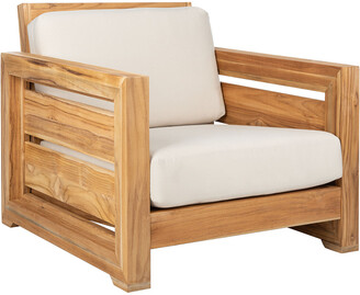 Safavieh Couture Guadeloupe Outdoor Teak Club Chair
